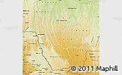 Physical Map of Kwango