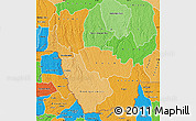 Political Shades Map of Kwango