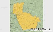 Savanna Style Map of Kwango