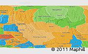 Political Shades Panoramic Map of Kwango