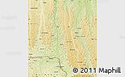 Physical Map of Popokabaka