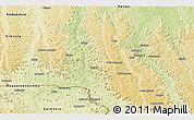 Physical Panoramic Map of Popokabaka