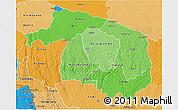 Political Shades 3D Map of Kwilu