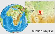 Physical Location Map of Bulungu/Kikwit