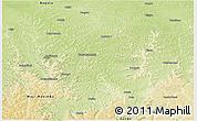 Physical Panoramic Map of Bulungu/Kikwit