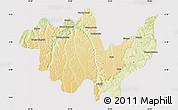 Physical Map of Gungu, cropped outside