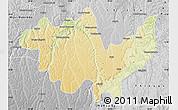 Physical Map of Gungu, desaturated