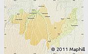 Physical Map of Gungu, lighten