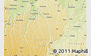 Physical Map of Gungu