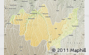 Physical Map of Gungu, semi-desaturated