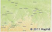 Physical Panoramic Map of Idiofa