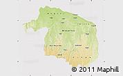 Physical Map of Kwilu, cropped outside