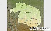 Physical Map of Kwilu, darken