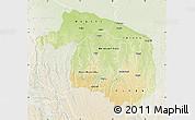 Physical Map of Kwilu, lighten
