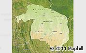Physical Map of Kwilu, satellite outside