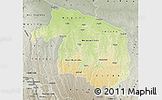 Physical Map of Kwilu, semi-desaturated