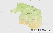 Physical Map of Kwilu, single color outside