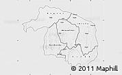 Silver Style Map of Kwilu, single color outside
