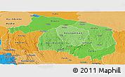 Political Shades Panoramic Map of Kwilu