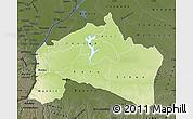 Physical Map of Mai-Ndombe, darken