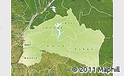 Physical Map of Mai-Ndombe, satellite outside