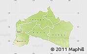 Physical Map of Mai-Ndombe, single color outside