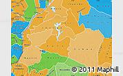 Political Shades Map of Mai-Ndombe