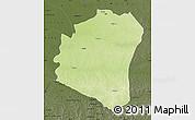Physical Map of Oshwe, darken