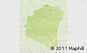Physical Map of Oshwe, lighten