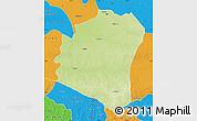 Physical Map of Oshwe, political outside