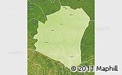 Physical Map of Oshwe, satellite outside