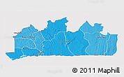 Political Shades 3D Map of Bas-Zaire, cropped outside