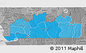 Political Shades 3D Map of Bas-Zaire, desaturated