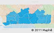 Political Shades 3D Map of Bas-Zaire, lighten