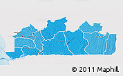 Political Shades 3D Map of Bas-Zaire, single color outside