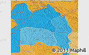 Political Shades 3D Map of Bas-Fleuve