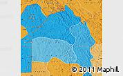 Political Shades Map of Bas-Fleuve
