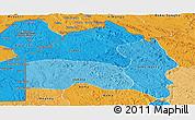 Political Shades Panoramic Map of Bas-Fleuve