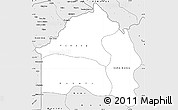 Silver Style Simple Map of Bas-Fleuve