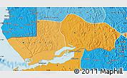 Political Shades Map of Boma