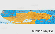 Political Shades Panoramic Map of Boma