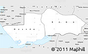 Silver Style Simple Map of Boma