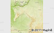 Physical 3D Map of Mbanza-Ngungu