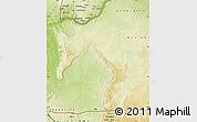 Physical Map of Mbanza-Ngungu
