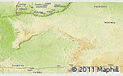 Physical Panoramic Map of Mbanza-Ngungu