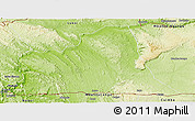 Physical Panoramic Map of Songololo