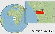 Savanna Style Location Map of Bas-Zaire
