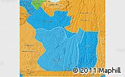 Political Shades 3D Map of Lukaya