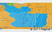 Political Shades Panoramic Map of Lukaya