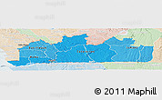 Political Shades Panoramic Map of Bas-Zaire, lighten